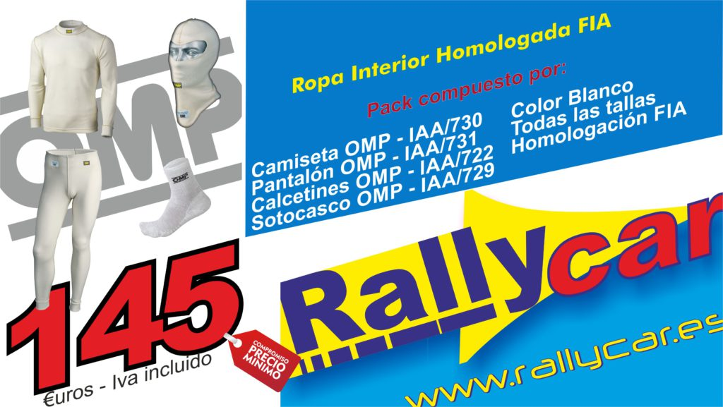 Ropa interior OMP - Rallycar - Rally & Motorsport store